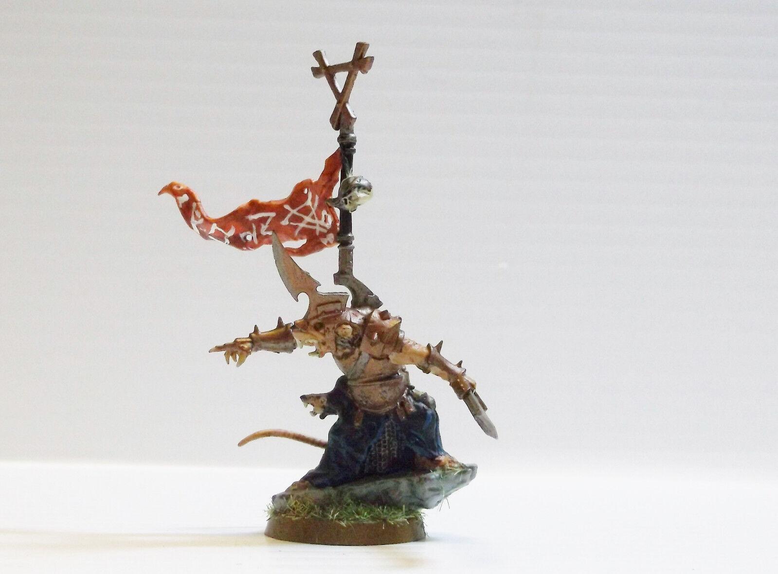 Warhammer alter sigmar skaven kriegsherr individuell lackiert mit pep