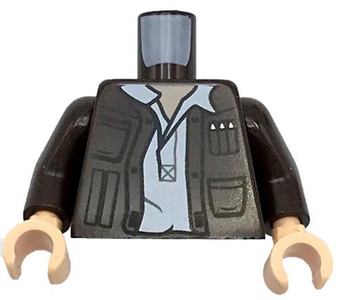 Lego New Torso Jacket Pockets Gadgets Open White Undershirt Star Wars Piece