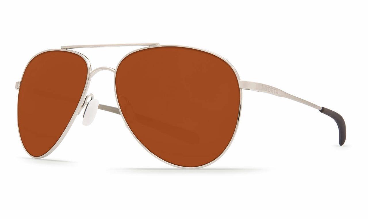 Costa Del Mar Wingman Polarized Sunglasses 580G Palladium Copper Glass Aviator