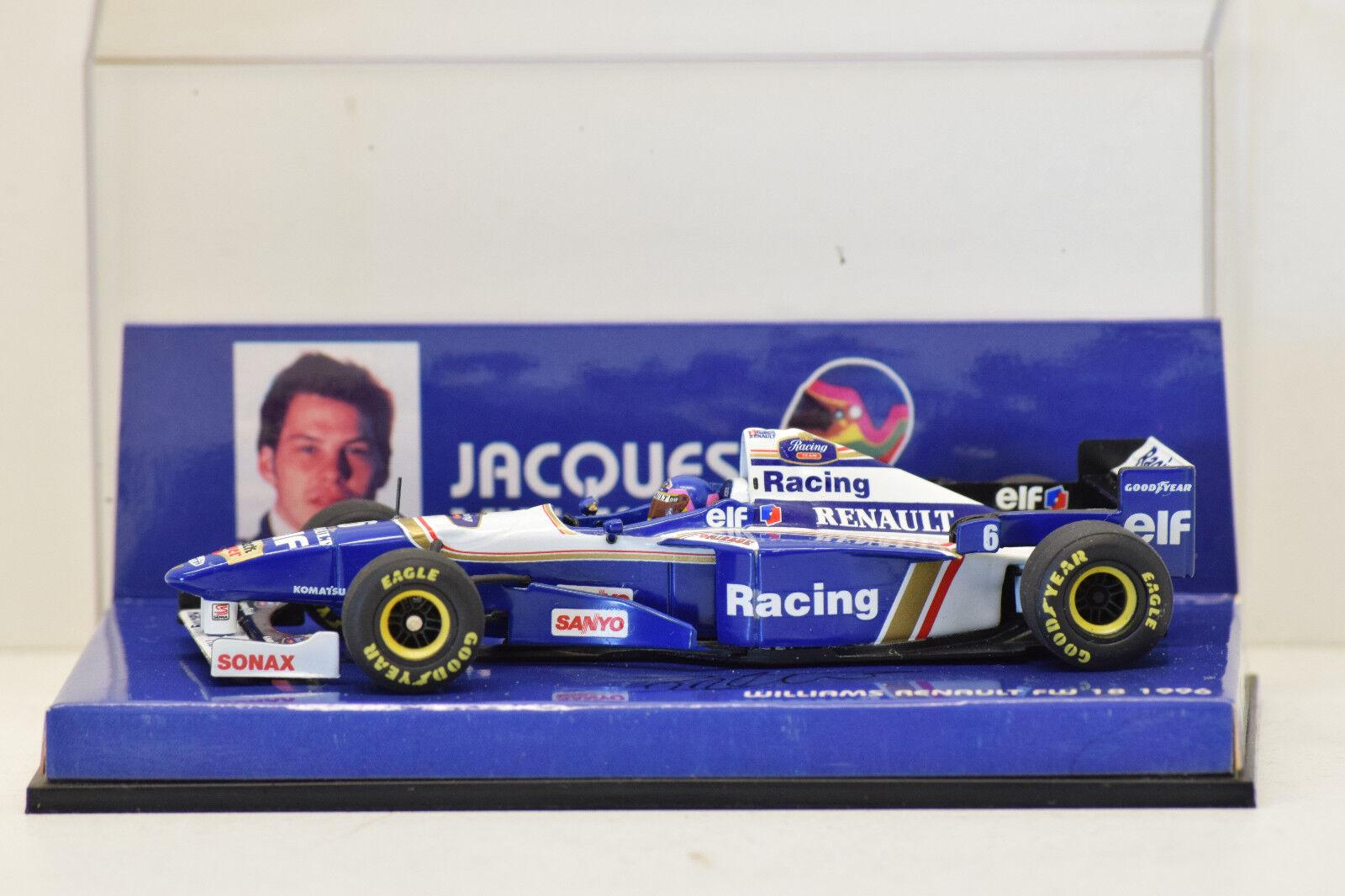 alta qualità e spedizione veloce F1 WILLIAMS FW18 1996 J. VILLENEUVE    MINICHAMPS 1 43 NEUVE EN BOITE DÉDICACÉE  il prezzo più basso