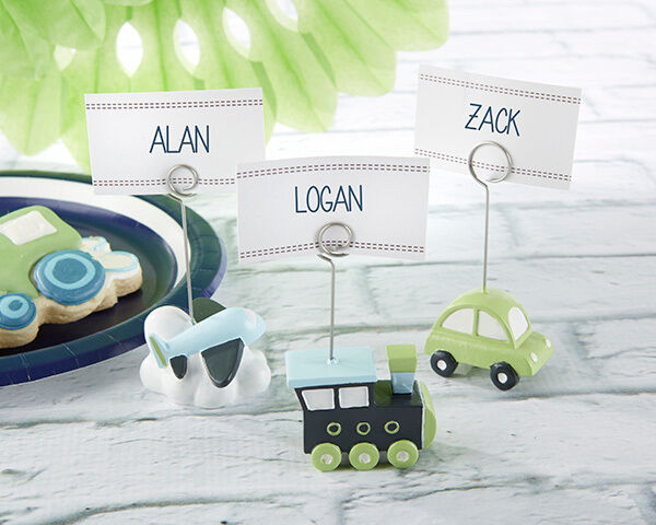 144 Precious Cargo Car, Train, Plane Place Card Holders Baby Shower Favors