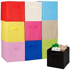 Collapsible-Cube-Storage-Boxes-Kids-Toys-Carry-Handles-Basket-Bits-Bobs-Organise