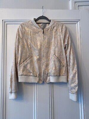 Zara Trafaluc Rose Gold Bomber Jacket Size L new Without ...