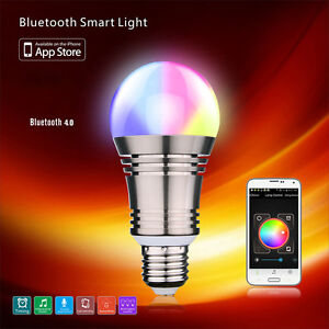 E27 LED Bluetooth RGB Bulb Light Wifi Control Smart Music ...