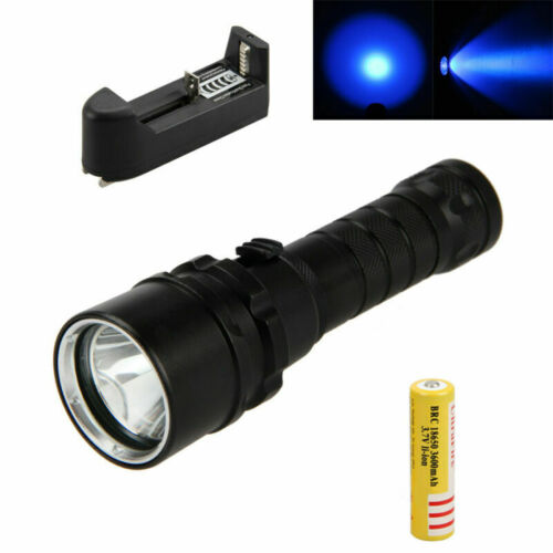 Scuba Torch Diving Flashlight Purple//Red LED Lights Underwater Photography Lamp