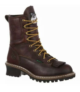 Georgia-Boots-Logger-Waterproof-EH-Lace-Up-s-Casual-Work-amp-Safety-Brown-Mens