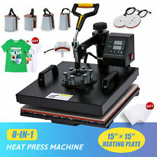 15x15 T Shirt Heat Press Machine For Shirts Cups Mugs Pads Plates More 8 In 1
