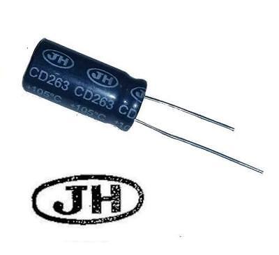 2 Pezzi Condensatore Elettrolitico 220uF 25V 105°C Radiale 8x12mm