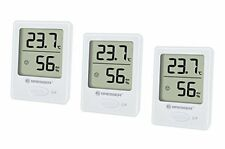 Bresser Temeo Hygro Messer Indicator 3er Set Raumtemperatur und Luftfeuchtigkeit