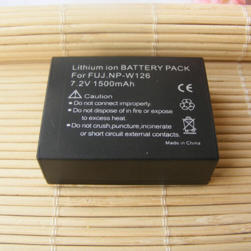 Battery AC/&DCCharger for Fujifilm Fuji NP-W126 NPW126 BC-W126 NP-W126S BCW126