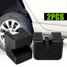 2pcs Jack Support Slotted Frame Rail Floor Universal Rubber Jack Pad Adapter