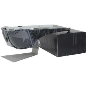 fc1e1cebea9 Details about Oakley 12-962 POLARIZED SIDEWAYS Black Plaid Grey Lens Mens  Womens Sunglasses .