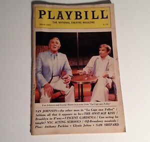 Playbill-La-Cage-aux-Folles-1985-Van-Johnson-George-Hearn-NYC-Broadway-Theater