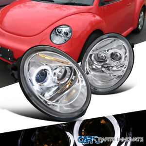 Image Is Loading For Vw 98 05 Beetle Replacement Halo Projector