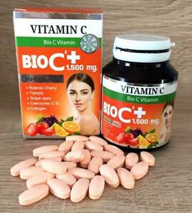 Bio C Vitamin C 1500 mg Alpha+Zinc Whitening Anti-Oxidant Wrinkle 30 Tablets