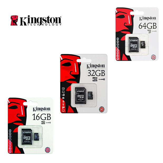 Kingston MicroSD Card 16 32 64GB TF Flash Memory Card With Adapter Class10 UHS-I