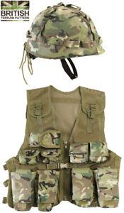 Kids-Army-Assault-Outfit-Soldier-Fancy-Dress-Costume-Set-Boys-BTP-Vest-Helmet