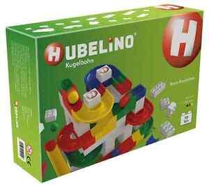 Kit de construction de base de rail à billes Hubelino 106 pièces neuves et neuves
