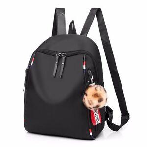 246ffe90c6 Image is loading Fashion-Women-Black-Backpack-School-Student-Bags-Female-