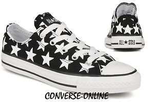 c64459c15e7 Older Boys Girls CONVERSE All Star BIG STAR Black White Trainers ...