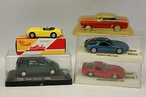 Solido-1-43-Lot-de-5-modeles-Fiat-Ford-Austin-Chevrolet-Porsche