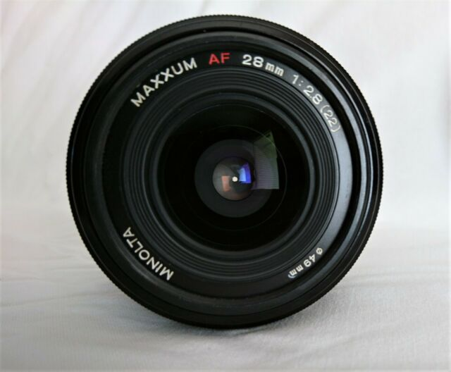 Minolta AF 28mm f/2.8 prime lens - Minolta  Sony Alpha A Mount