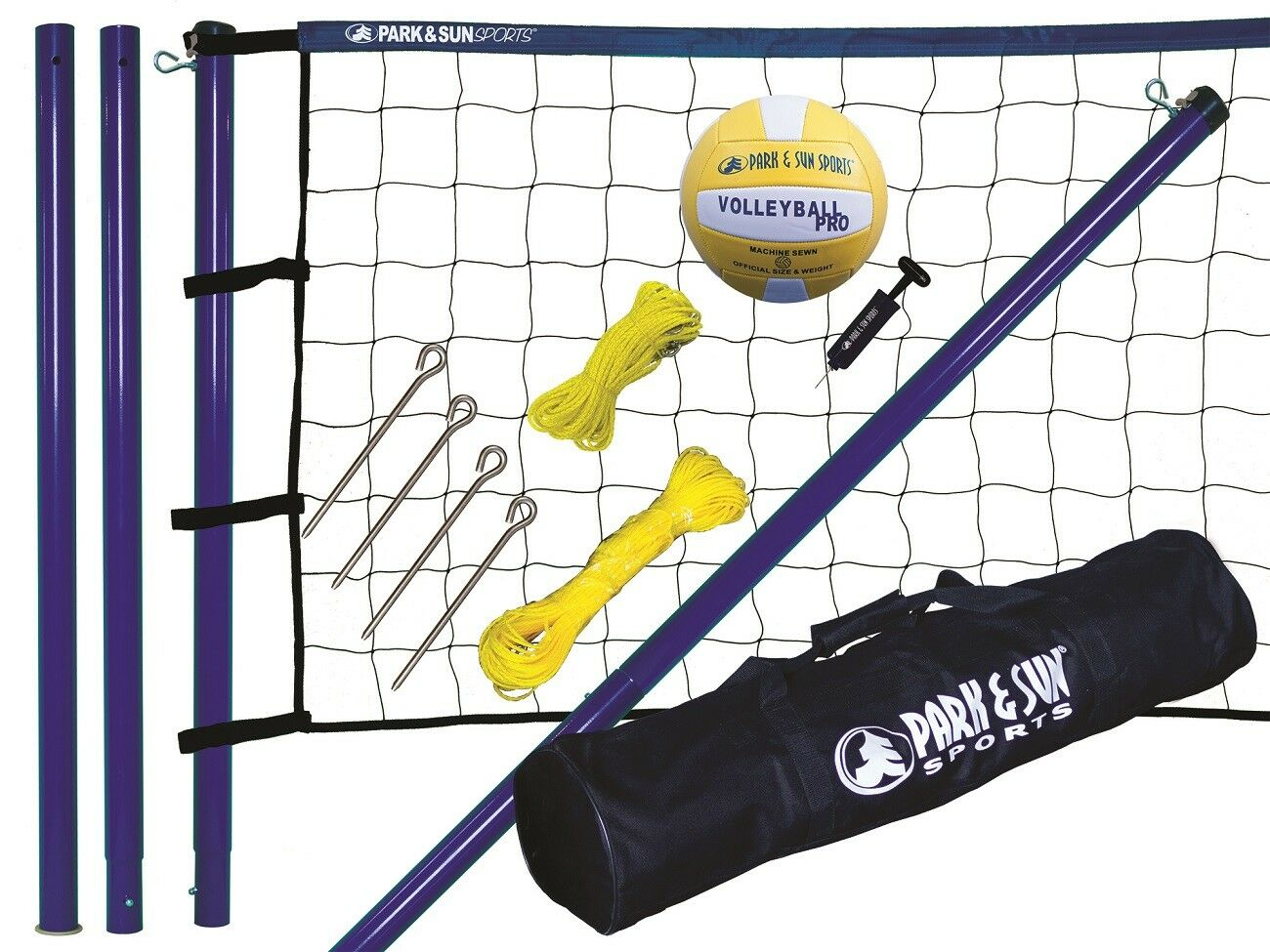 Beach Volleyball Komplett Set Mobile Netzanlage Netzanlage Netzanlage + Ball + Tasche Spiker Steel NEU 1d674e