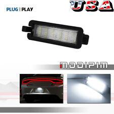 White Led License Plate Tag Light Lamp For 2015 2020 Dodge Charger Amp Challenger