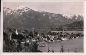 1960s-Postcard-AK-Bayern-Tegernsee-View-of-the-village-and-lake