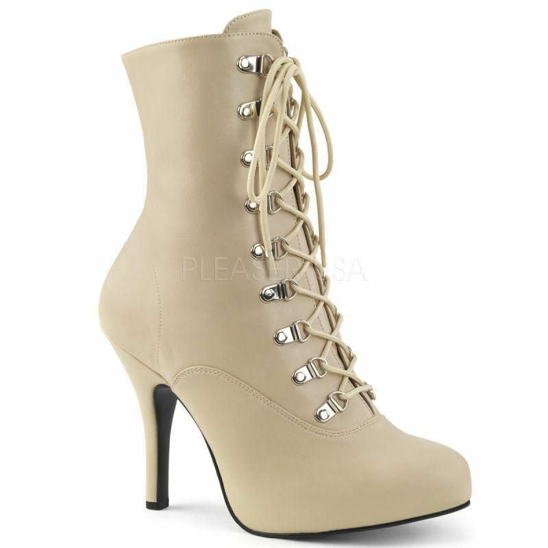 PLEASER PINK LABEL EVE-106 Mini-Plateau Stiefelette Beige Beige Beige Elegant Gogo Cosplay . 6aed68