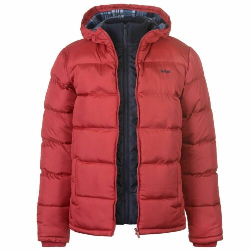 Lee Cooper, Men's Designer 2 Zip Padded Jacket, Quilted, Bubble, Puffer, Parka R