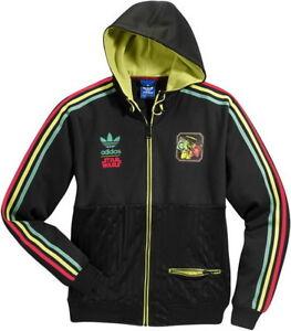 donde quiera Grave robot  New Adidas Original StarWars Iconic Black Jacket Mens RASTA BOB A FETT  V32822 | eBay