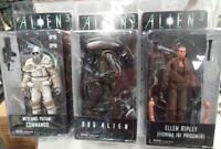 Neca Aliens Series 8 Figure Set 3 Dog Alien Ripley Weyland-yutani Commando