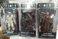 Neca Aliens Series 8 Figure Set 3 Dog Alien Ripley Weyland-yutani Commando
