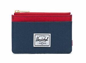 Details Zu Herschel Oscar Rfid Wallet Kredit Visitenkartenetui Navy Red Oscar