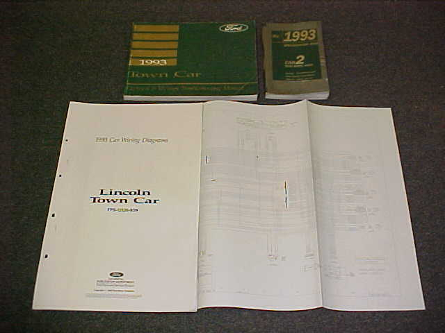 1993 Town Car Electrical Vacuum Evtm Service Manual 93