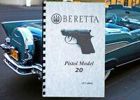 Beretta .25 Cal Model 20 Pistol Owners Manual