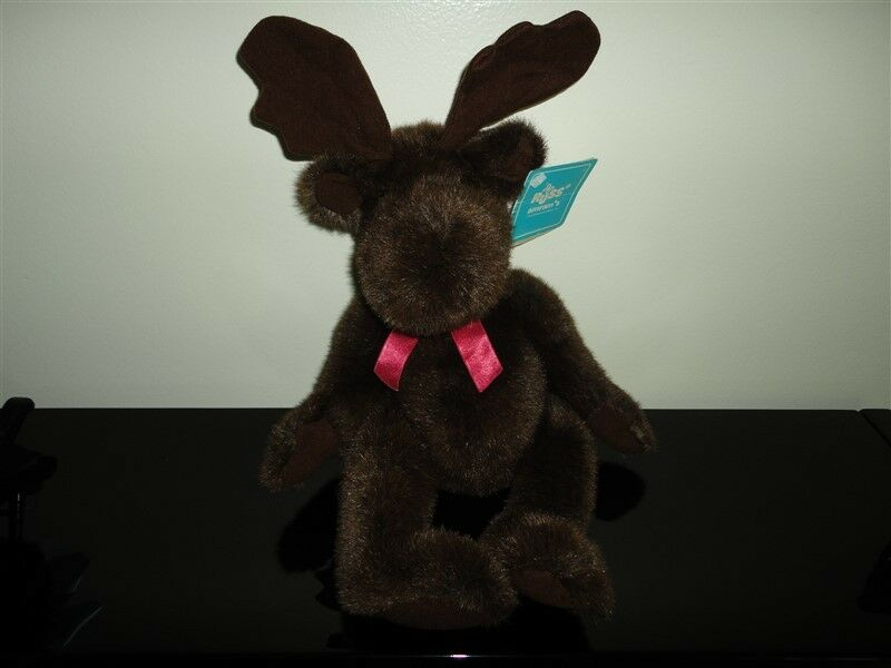 RUSS Caress Soft Pets WILDWOOD MOOSE Vintage 14 inch Nr 1222 Handcrafted NEW