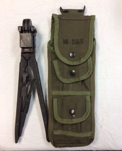 US Military GI Wire Splicing//Crimping Tool TL-582//G with canvas pouch MK-356//G