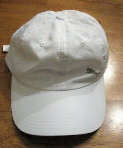 47e23b3514d Image is loading Puma-solid-White-hat-baseball-cap-polyester-one-