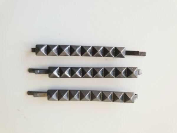 & Altre Storie Piramide Grigio Metallizzato Clip Per Capelli Clip X 2