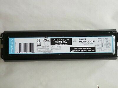 100W Philips Advance LED Driver Model# LED-INTA-700C-140-F30 120-277VAC