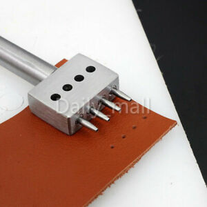 Leather Craft Row Punch Stitching Cutter Tool 1.0mm Round Hole 4.0-8.0mm