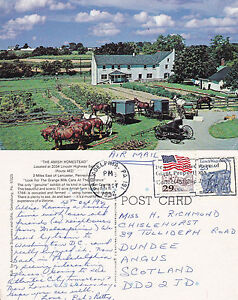 1992-THE-AMISH-HOMESTEAD-LANCASTER-PENNSYLVANIA-UNITED-STATES-POSTCARD
