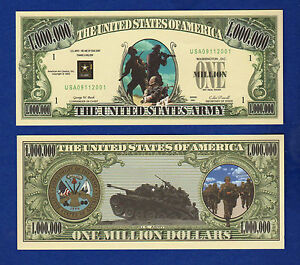Collectible MONEY-ITEM A FAKE 1 U.S Army Dollar Bill  Novelty