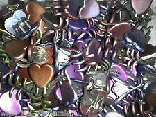 Mini Cute Heart Plastic Hair Snap Claw Styling Clip Metallic Color Lot 144 Clips