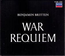 BRITTEN Conducts WAR REQUIEM Galina Vishnevskaya Peter Pears Fischer-Dieskau 2CD