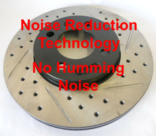 06-10 M35 M45 Drilled Slotted Rotors Noise Reduction Technology F+R Set
