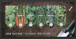 New-Zealand-NZ-2017-MNH-Grow-Your-Own-Vegetables-6v-M-S-Plants-Nature-Stamps