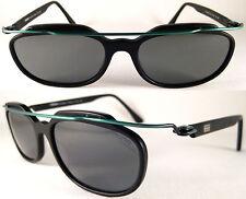 Vintage MOMO DESIGN Sonnenbrille MS 6005* Superleicht Schwarz/Grün,Metall/Acetat